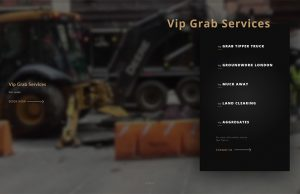 vip grab new web design