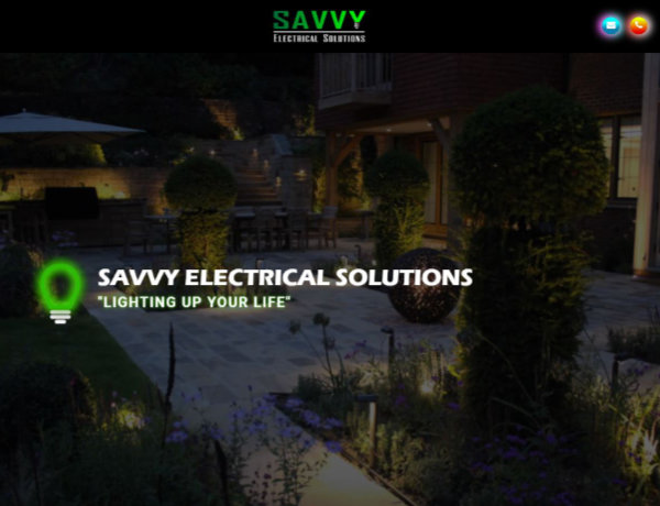 New Savvy Electrical Solutions Website