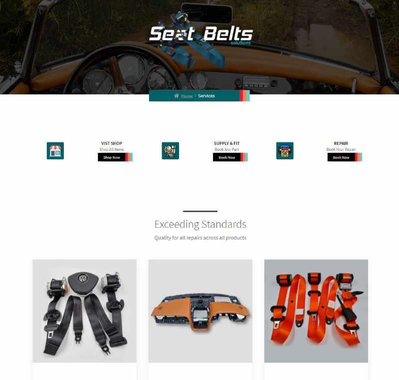Web Design for Seat Belts